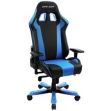 Gamingstuhl Dxracer Oh/ks06/nb King Serie - Blau/Schwarz, MODERN, Kunststoff/Textil (80/131-141/80cm) - Dxracer
