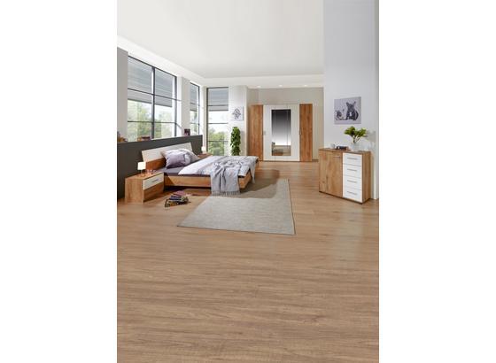 Ložnice Katrin - bílá/barvy dubu, Konvenční, kompozitní dřevo (225/210/58cm)