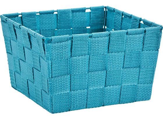 Košík Nelly - modrá, Moderný, textil (19/19/11cm) - Mömax modern living