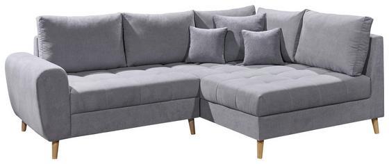 Eck-Sofa in Hellgrau