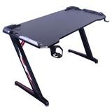 Gaming Tisch mit Getränkehhalter B 120cm Matrix - Schwarz, MODERN, Holzwerkstoff/Metall (120/60/74cm) - MID.YOU