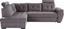 Sarokgarnitúra Falco - Sötétszürke, modern, Fa/Fém (183/251cm) - OMBRA