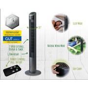 Turmventilator Fresh Breeze L: 120 cm - Anthrazit, Basics, Kunststoff (120/32/32cm)