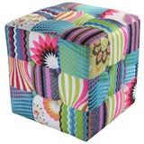 Sitzwürfel Patchwork 40 cm - Multicolor, MODERN, Textil (40/40/40cm)
