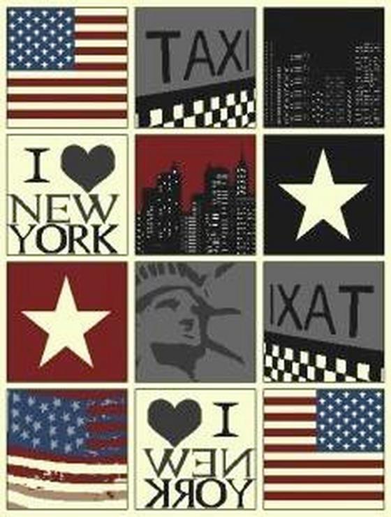 Webteppich New York 160x225 cm - Multicolor, KONVENTIONELL, Textil (160/225cm)