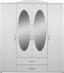 Kleiderschrank Touch 4 - Weiß, ROMANTIK / LANDHAUS, Holzwerkstoff (168/196/52cm)