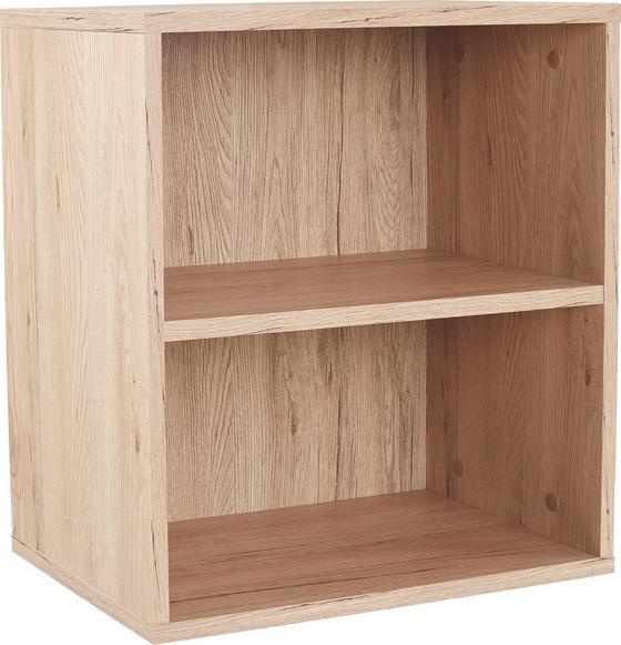 Nástenný Regál Elke Elr01 - farby dubu/svetlohnedá, Moderný, kompozitné drevo (50/50/26cm)