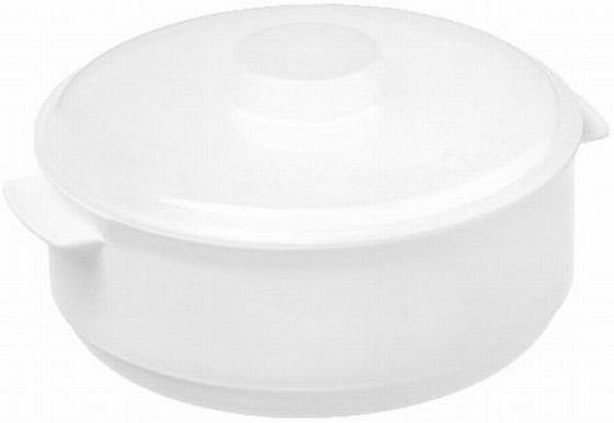 Mikrowellenschüssel 1 Liter - Rot/Weiß, KONVENTIONELL, Kunststoff (15,5/8,4cm)