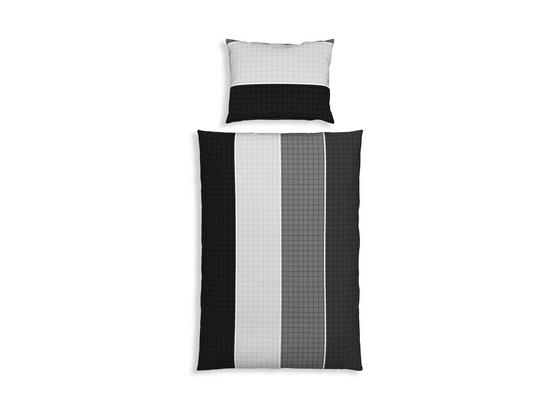 Bettwäsche Rosella 140/200cm Grau - Silberfarben, MODERN, Textil - Luca Bessoni