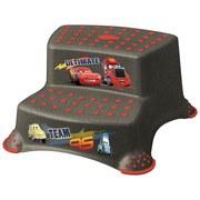Tritthocker Igor Cars - Rot/Graphitfarben, Kunststoff (40/37/21cm) - Disney