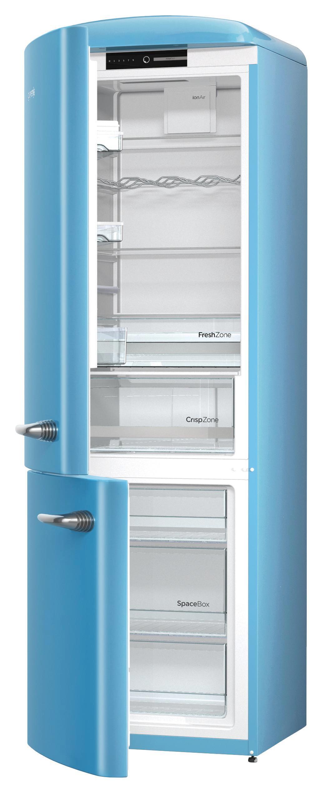 Gorenje Kühlschrank Türablage : Gorenje rk obl blau mediamarkt