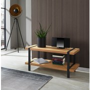 Phonotisch Timber B: 100 cm Natur - Schwarz/Naturfarben, MODERN, Holzwerkstoff/Metall (100/45/40cm)