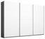 Schwebetürenschrank Belluno 271 cm Grau/ Weiß - Dunkelgrau/Weiß, MODERN, Holzwerkstoff (271/210/62cm)
