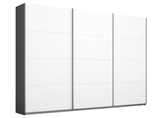 Schwebetürenschrank Belluno B:271cm Grau/ Weiß - Dunkelgrau/Weiß, MODERN, Holzwerkstoff (271/210/62cm)