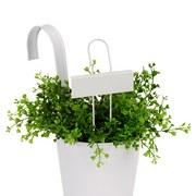 Pflanzenstecker Herb - Zinkfarben/Weiß, Metall (9/27cm) - Homezone