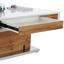 Konferenčný Stolík Kopenhagen - farby dubu/biela, Moderný, kov/kompozitné drevo (130/47-77,5/70cm)
