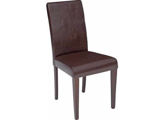 Židle John - barvy wenge/hnědá, Konvenční, kompozitní dřevo/textil (44,5/92,3/59cm)