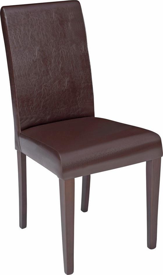 Židle John - barvy wenge/hnědá, Konvenční, textil/dřevěný materiál (44,5/92,3/59cm)