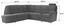 Wohnlandschaft in L-Form Queenline A 257x266 cm - Schwarz, KONVENTIONELL, Holz/Holzwerkstoff (257/266cm) - James Wood