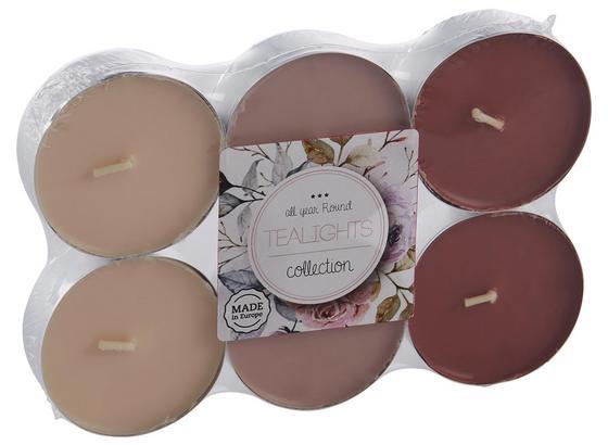 Teelicht Momo Verschiedene Farben - sivá/ružová, kov (5,9/2,4cm) - Mömax modern living