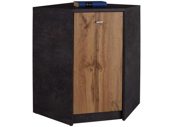 Komoda 4-you Yuk10 - šedá/barvy dubu, Moderní, kompozitní dřevo (60,9/85,4/60,9cm)