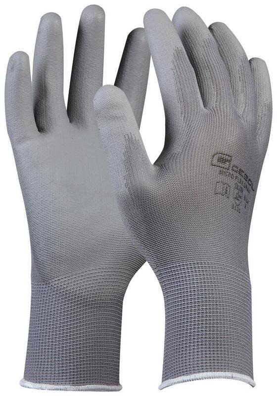 Handschuh Ida Gr. 10 - Grau, KONVENTIONELL, Textil (20cm) - Gebol