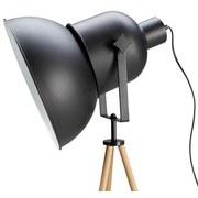 Stojací Lampa John - černá, Moderní, kov/dřevo (62/152cm) - MODERN LIVING
