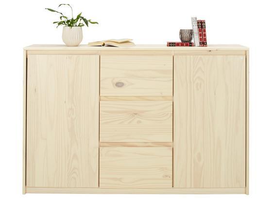 Komoda Sideboard Milas - prírodné farby, Romantický / Vidiecky, drevo (145/95/39cm)