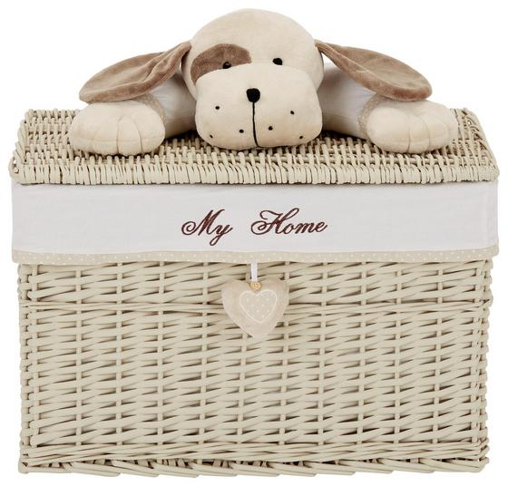 Korb Lisa XXL - Beige/Braun, ROMANTIK / LANDHAUS, Holz/Textil (60/40/40cm) - James Wood