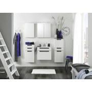 Waschtischkombi mit Soft-Close Siena B: 60cm Weiß + Eiche - Weiß, MODERN, Holzwerkstoff/Kunststoff (60/54/47cm) - MID.YOU
