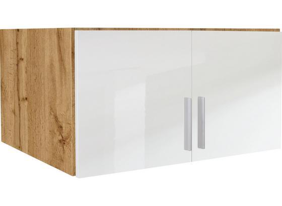 Nadstavec Na Skriňu K 2-dverovej Skrini, Dub Wotan - farby dubu/biela, Moderný, drevo (91/40/54cm)