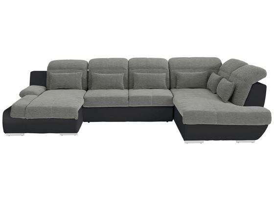 Sedací Souprava Multi - černá/barvy stříbra, Moderní, textil (184/345/228cm)
