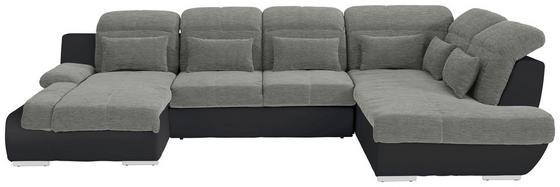 Sedacia Súprava Multi - čierna/strieborná, Moderný, textil (184/345/228cm)