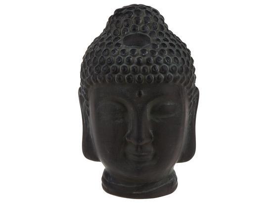 Buddhakopf Padma - Schwarz, Design, Stein (13/20cm)