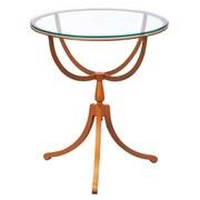 Beistelltisch Southport Rund + Glasplatte, Beine Kupferfarben - Kupferfarben, Basics, Glas/Metall (50/57/50cm) - Livetastic