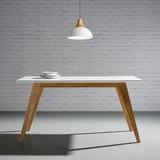 Jedálenský Stôl Harry - prírodné farby/biela, Moderný, drevo (150/90/75cm) - Mömax modern living