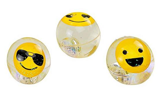 Spielball Smile - Transparent/Gelb, KONVENTIONELL, Kunststoff (6,5cm)