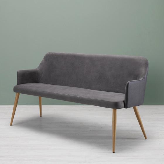Lavica Chrisi - tmavosivá, Moderný, kov/textil (150/84/54cm) - Modern Living