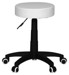 Bürohocker LEON S in kontrastreic Schwarz mit Weiß