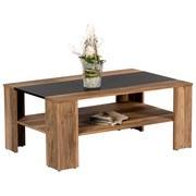 Couchtisch Holz mit Ablagefach Dakota, Nussbaum Dekor - Nussbaumfarben/Schwarz, Design, Holzwerkstoff (107/70/44cm) - MID.YOU