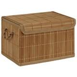 Aufbewahrungsbox Cornelius, M - Naturfarben, KONVENTIONELL, Holz (29/18/18cm) - Ombra
