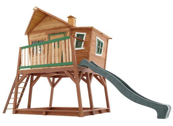 Hrací Domeček Axi Max - hnědá, dřevo (435/291/180cm)