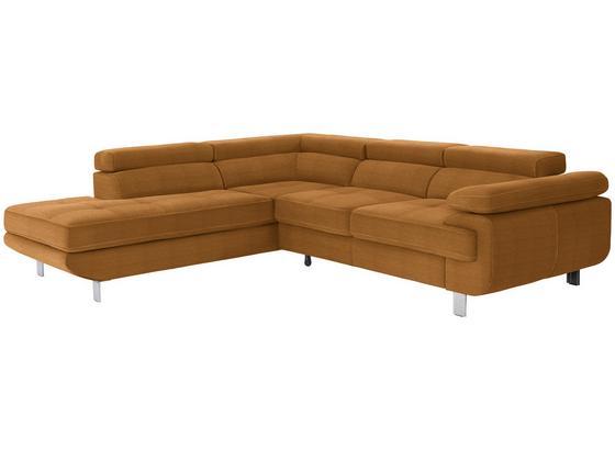 Wohnlandschaft In L-Form Savona 230x280 cm - Orange, MODERN, Textil (230/280cm) - Ombra