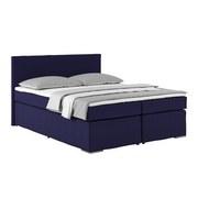Boxspringbett Nero ca.160x200cm, Blau - Blau/Chromfarben, KONVENTIONELL, Textil (160/200cm)