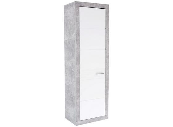 Šatníková Skriňa Malta - sivá/biela, Moderný, kompozitné drevo (65/196,8/36cm)