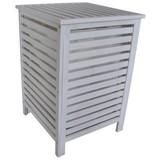 Wäschetonne Classic B: 45 cm White Wash - Weiß, Basics, Holz (45/65/45cm)