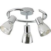 Stropná Lampa Carla - farby chrómu, Moderný, kov/sklo (25/14cm) - Modern Living