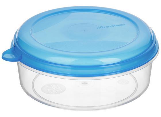 Frischhaltebox 0,5 Liter - Blau/Rot, KONVENTIONELL, Kunststoff (14/6cm)