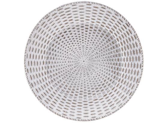 Talíř Dekorační Sarah - bílá, kompozitní dřevo (35cm) - Mömax modern living