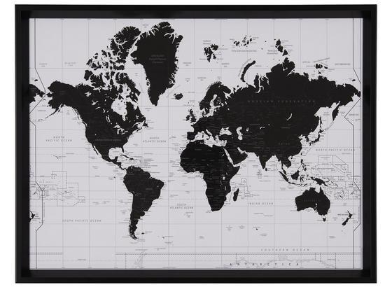 Obraz World - čierna/biela, kompozitné drevo/plast (65/50/3,5cm) - Mömax modern living